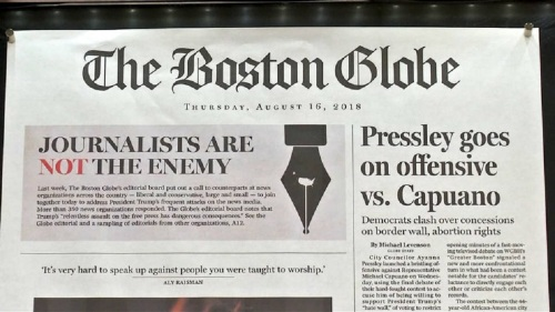 Threat made against Boston Globe after editorial condemning Trump
